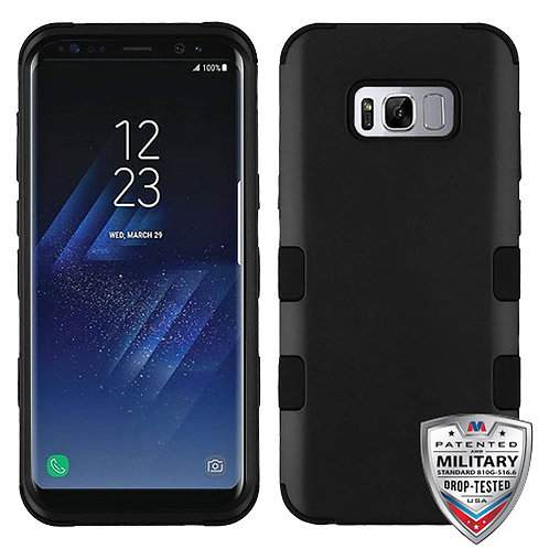 Samsung S8 Rubberized Black TUFF Hybrid Phone Protector Cover