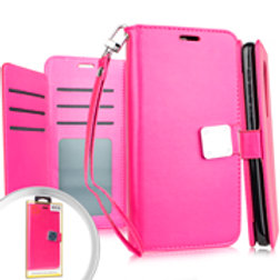 DW-IPXR-08iPhone XR 6.1 Deluxe Wallet w Blister Hot Pink
