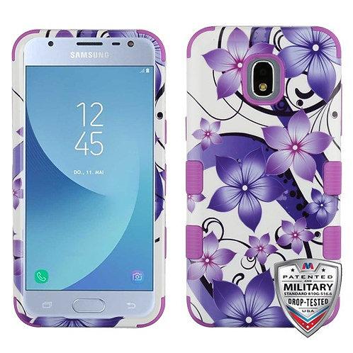 Samsung Galaxy J3(2018) Purple European_Black TUFF Hybrid Phone Protector