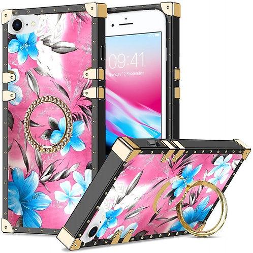 iphone 7-8-SE-VINTAGE OPULENCE - BLUE LILY PINK SKY