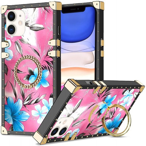 iphone 11-VINTAGE OPULENCE - BLUE LILY PINK SKY