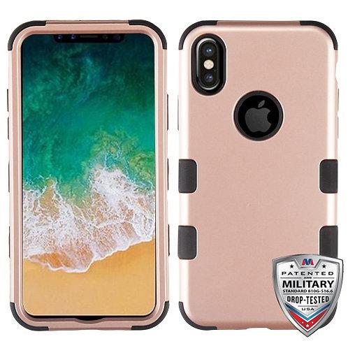 Iphone X/XS Rose Gold/Black (Tuff Hybrid)