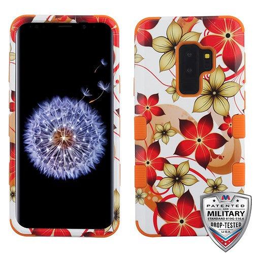 Samsung S9 Plus Hibiscus Flower_Orange TUFF Hybrid Phone Protector Cover