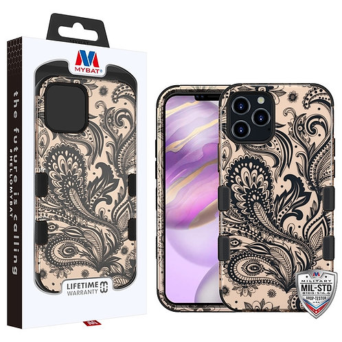 MyBat TUFF Hybrid Protector Cover [Military-Grade Certified] for Apple iPhone 12