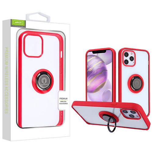 Airium Hybrid Case (with Ring Stand) for Apple iPhone 12 Pro Max (6.7) - Transpa