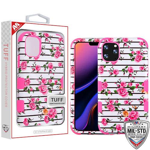 Iphone11_Pink Fresh Roses_Electric Pink TUFF Hybrid case