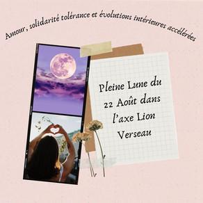 P.Lune Lion Verseau : amour, solidarité, tolérance et évolutions intérieures accélérées