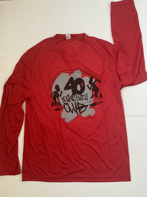 40+ Red Long Sleeve Moisture Wicking
