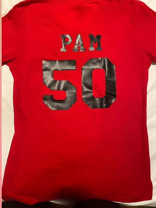 Personalized 40+ Red  Tee