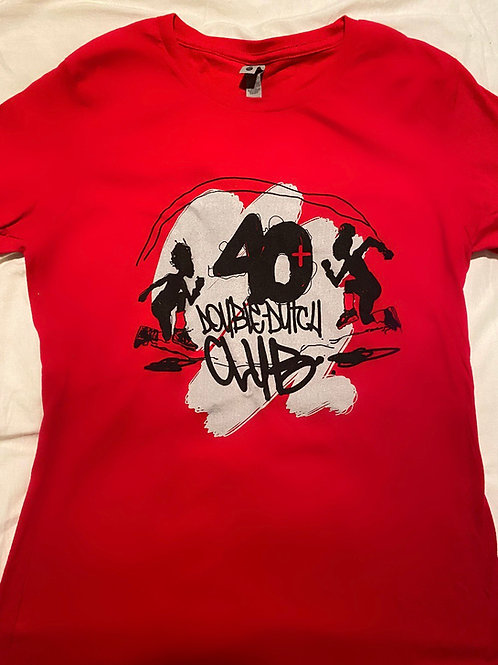40+ Red  Tee