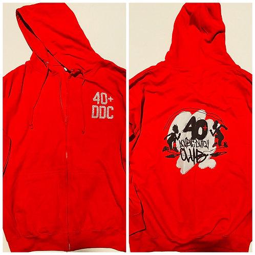 40+ Red Zip Up Hoodie