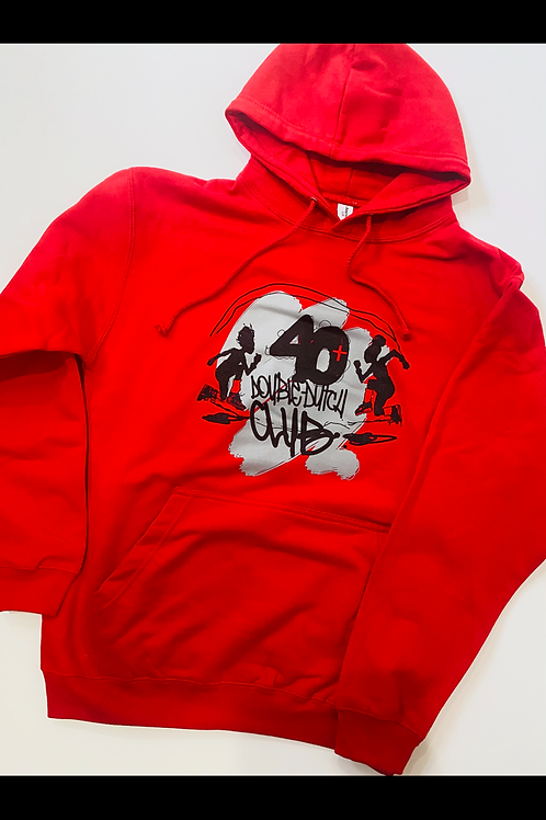 40+ Red (pullover) Hoodie