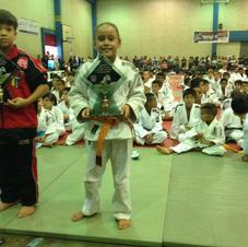 Aluna do projeto que entrou no judo aos 4 anos de idade