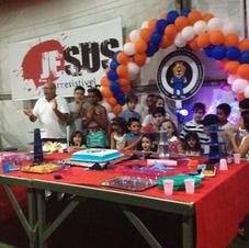 Festa de aniversario do projeto p as criancas do judo