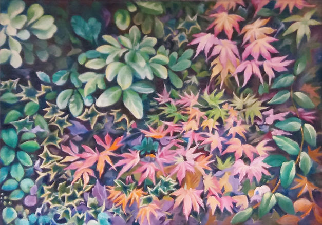 painting of autumn leaves