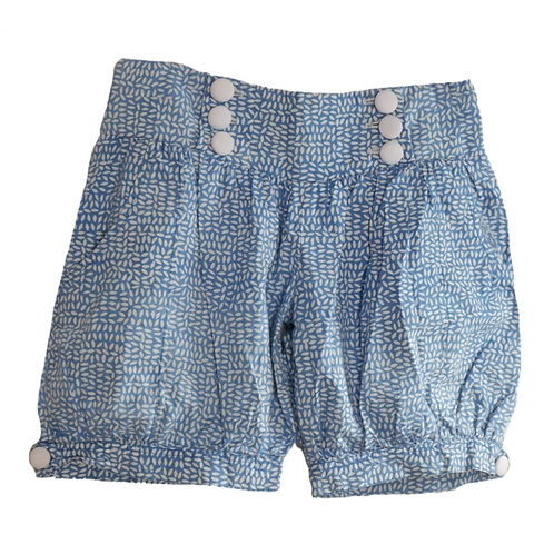 Blue Short Pant Motif