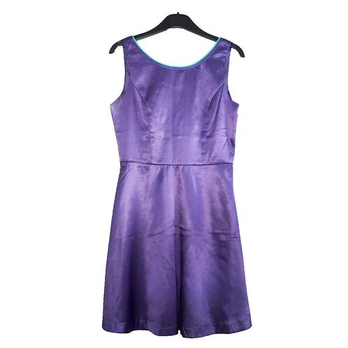 Sole Mio Satin Purple Dress