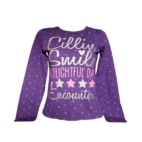 Original Graphics Purple Kids Shirt Long Sleeve