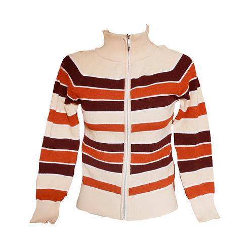 Stripe Knit Sweater - Brown