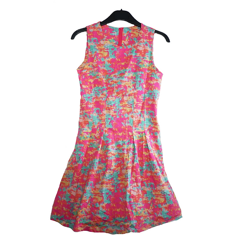 Abstract Pink Dress Sleeveless