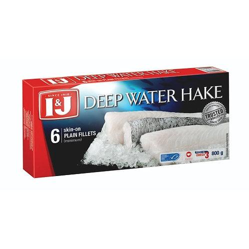 I&J DEEP WATER HAKE FILLETS 800GR