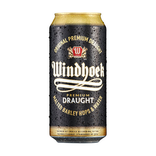 WINDHOEK DRAUGHT CANS 440ML