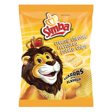 SIMBA CHIPS CREAMY CHEDDAR 125GR
