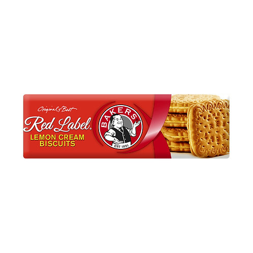 BAKERS RED LABEL LEMON CREAMS 200GR
