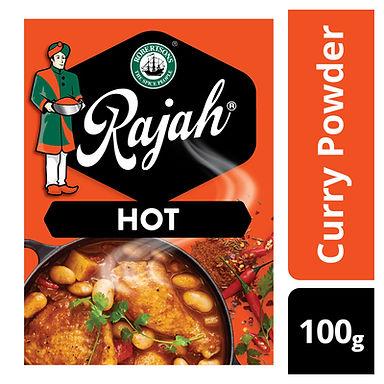 RAJAH CURRY POWDER HOT 100GR