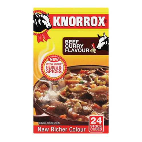 KNORROX STCK CUBES BEEF CURRY 24EA