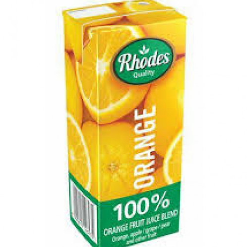 RHODES 100% FRUIT JCE  BLND ORANGE 200ML