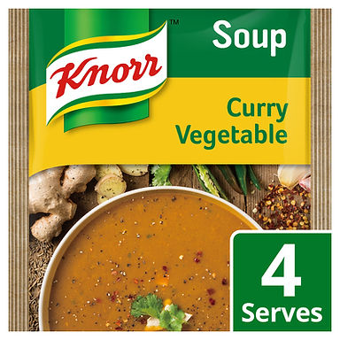 KNORR SOUP CURRY VEGETABLE 50GR