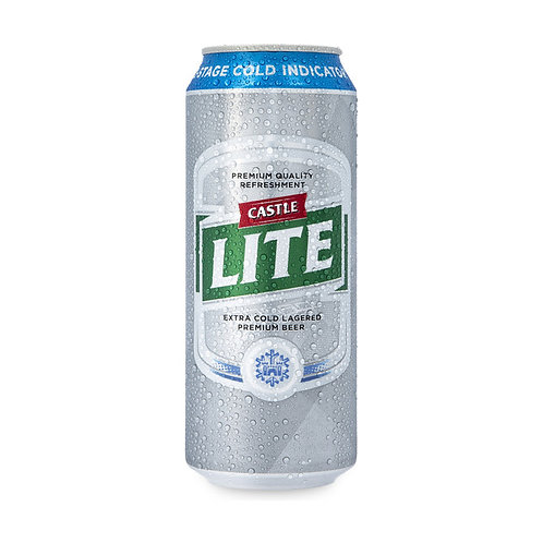 CASTLE LITE BEER CAN 500ML