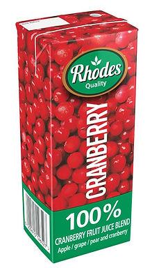 RHODES 100% F/J BLN CRANBERRY 200ML
