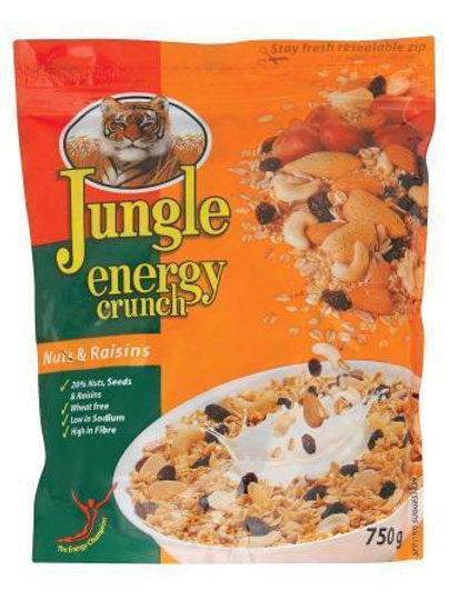 JUNGLE MUESLI NUTS&RAISINS 750GR
