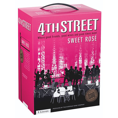 4TH STREET NATURAL SWEET ROSE 5L