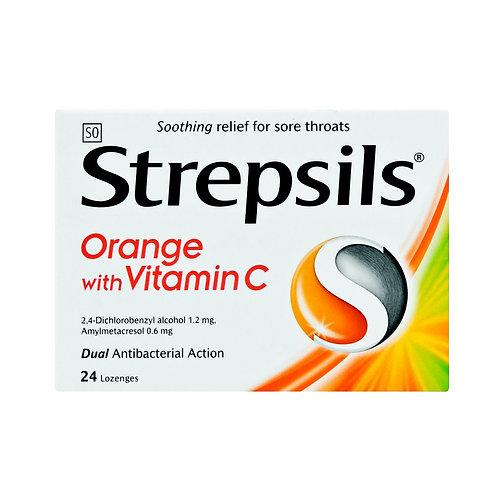 STREPSILS LOZENGES ORANGE C 24EA