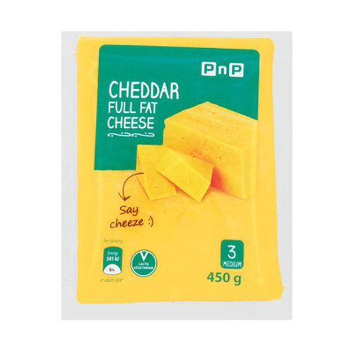 PNP CHEDDAR CHEESE 450GR