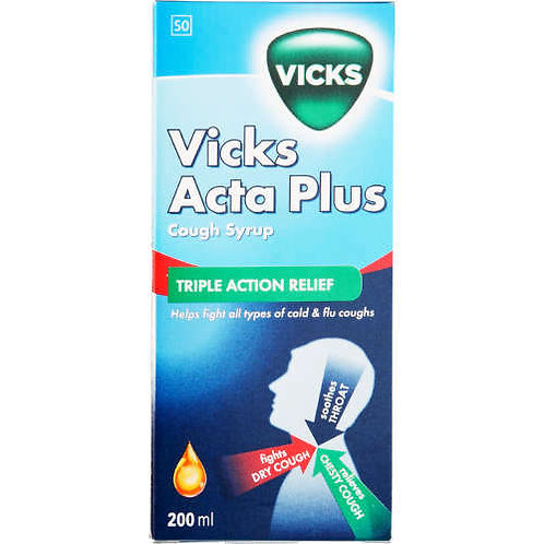 VICKS ACTA PLUS COUGH SYRUP 100ML
