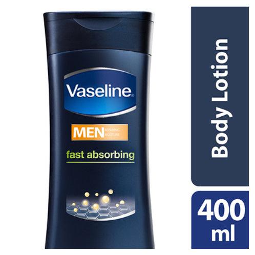 VASELINE B/LOT FOR MEN F/ABSORBING 400ML