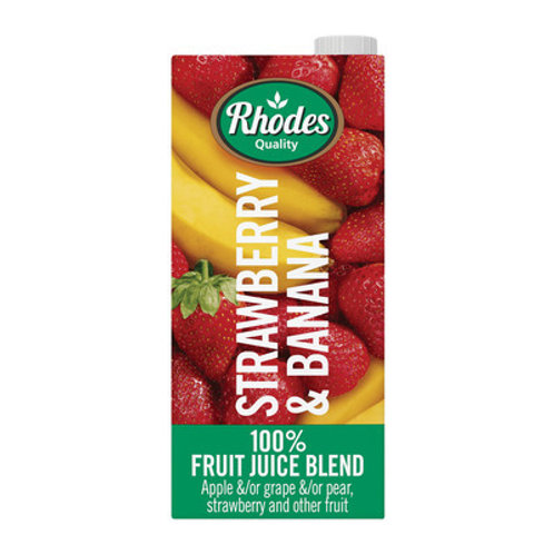 RHODES 100% STRAW&BANANA FRUIT JUICE 1L