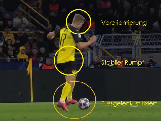 1. Ballkontakt im Fussball (First Touch)