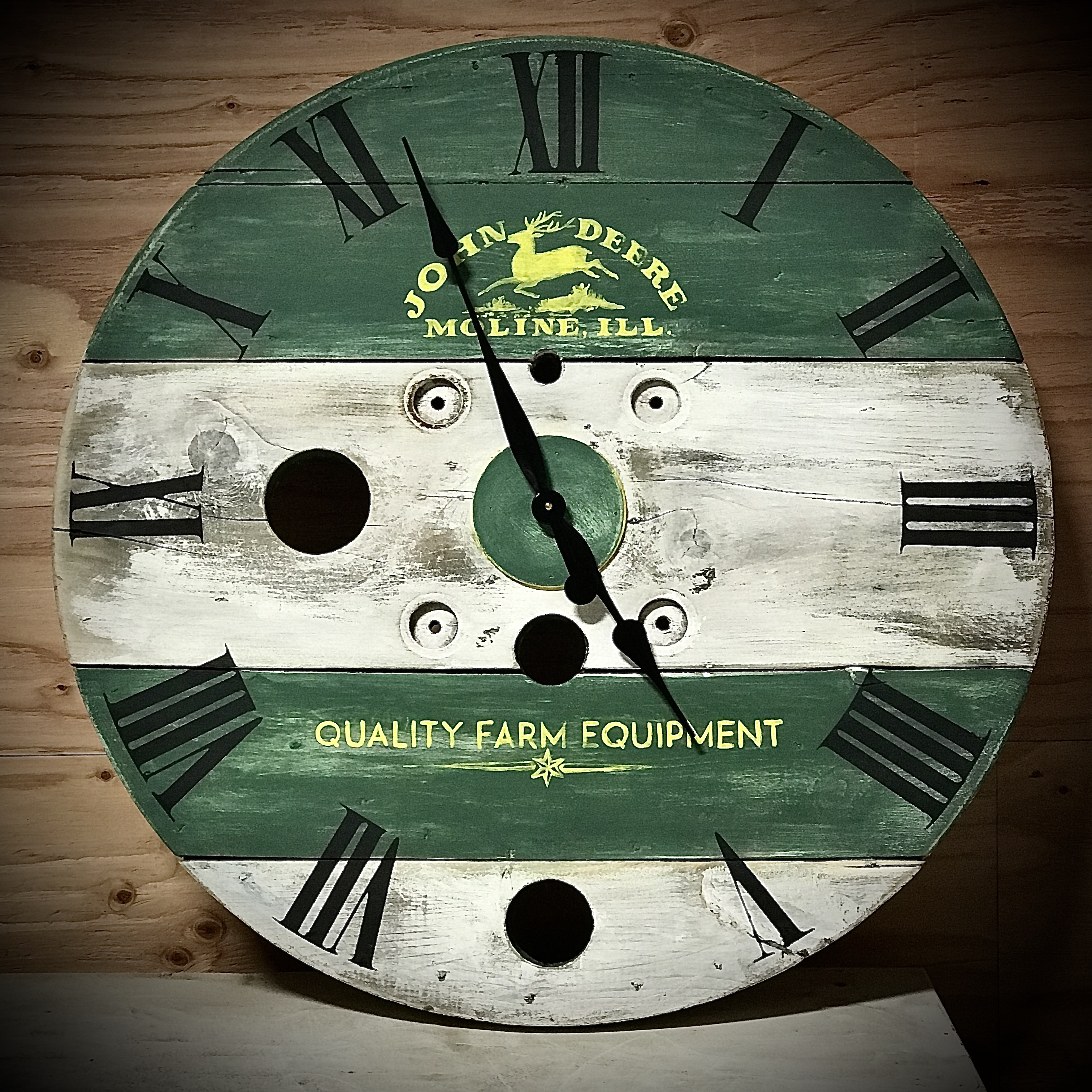 Farmhouse Spool Clocks