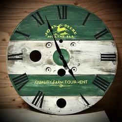 Farmhouse Spool Clocks