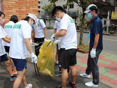 アスリートコース 清掃活動を実施