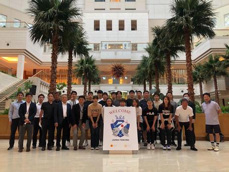 小久保選手、サーブル日本代表合宿に参加