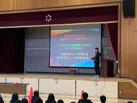立川市立第六中学校で講演会・体験会を実施