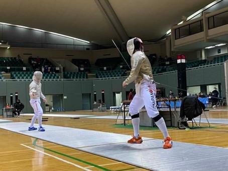 フェンシング JOCジュニア・オリンピック・カップ・フェンシング大会に出場