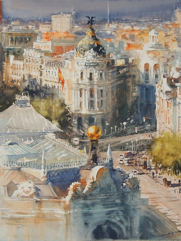 5 7 Sergiy Lysyy_Madrid_watercolour 64x4