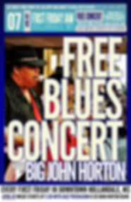 Hollandale Blues Delta Blues Big John Horton First Friday Jam August 05 2016